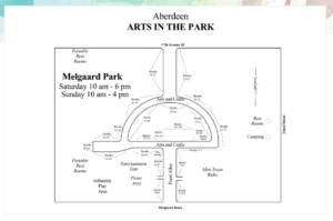 Arts in the Park Events Map